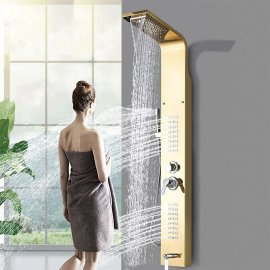 Fixed Support Hot and Cold Rainfall Shower Panels