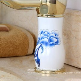 Golden Style Single Handle Bathroom Faucet