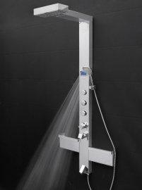 Hammer Stainless Steel Rainfall Shower Panel with Handheld Shower Head
