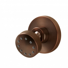 oil rubbed bronze round jetted body shower