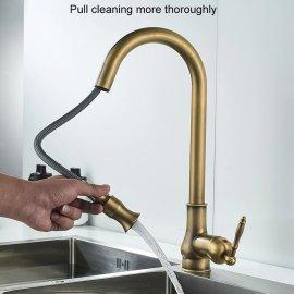 Antique brass touch sensor kitchen faucet