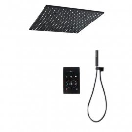 Black thermostatic shower system