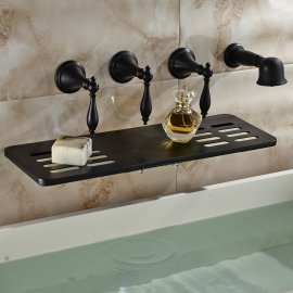 Boss Super Luxury Oil Rubbed Bronze Shower Faucet Bathtub Mixer with Soap Dish Wall Mount