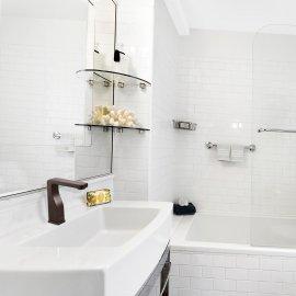 Bravat Oil Rubbed Bronze public bathroom / commercial Kitchen sink Faucets