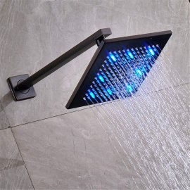 Dual Handle 8 inch LED Rain Shower Head Oil Rubbed Bronze