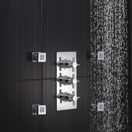 Le Havre  3 Outlet Concealed Thermostatic Triple Shower Faucet Valve Diverter