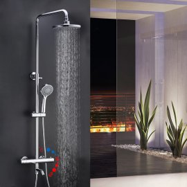 Juno LED Shower Head LED Handheld Shower & Shower Faucet