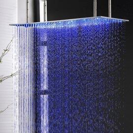 Juno Luxury Brushed 20*40 Large  LED Rain Shower Head