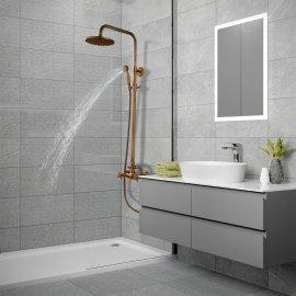 Juno New Antique Brass European Style Shower Set