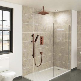 Juno Oil-Rubbed Bronze Ceiling Shower Head Set