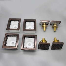 oil rubbed bronze square jetted body shower