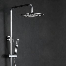 Juno Round LED Shower Set with Handheld Shower & Shower Faucet