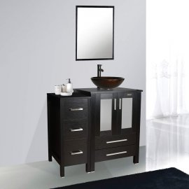 Juno Black Vessel Vanity Set