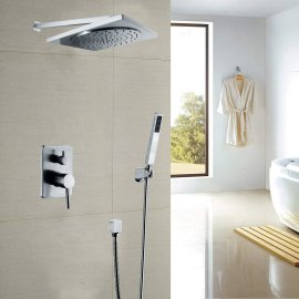 Juno Square Chrome Rain Shower Head