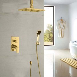 Juno Gold Shower Head System