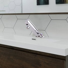 Thermostatic Handfree Commercial Bathroom and residential Bathroom Motion Sensor sink Faucet