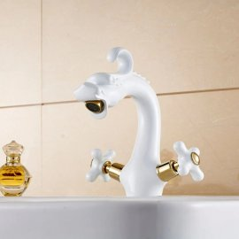 Juno White Dragon Bathroom Faucet