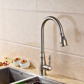 Kitchen Pull Out Sink Faucet Brushed Nickel