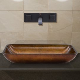 Latori Oil Rubbed Bronze Wall Mount Bathroom Sink Faucet