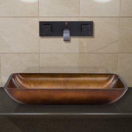Latori Oil Rubbed Bronze Wall Mount Bathroom Sink Faucet