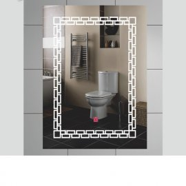 Juno New Wall Hanging Touch button Control Rectangle Bathroom LED Mirror