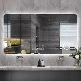 Juno Frameless Wall Mount Touch Screen Multifunctional LED Bathroom Mirror Fixture