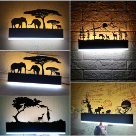 Juno Modern Bathroom Lighting Black LED Scenic Wall Sconce light Fixture