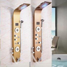 LED Shower Column Massage Jets With Hand Shower Set