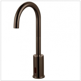 Long Neck Waterfall Motion Sensor Automatic Touchless Faucet in Oil Rubbed Bronze