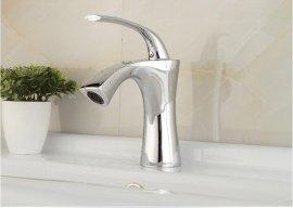Luxury Style Chrome & Gold Deck Mount Bathroom Faucet
