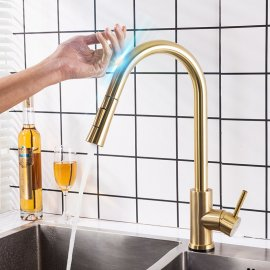 Juno Gold Touch Kitchen Faucet With Pull Down Sprayer