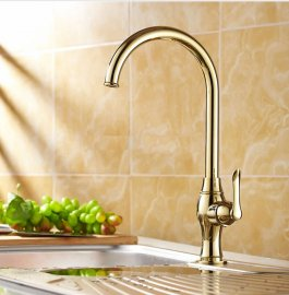 Gold Finish Kitchen Faucet