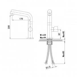 New Design Gold Finish Single Handle Center set kitchen Faucet