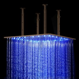 Oil rubbed bronze large shower head