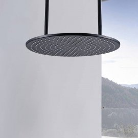 Oil Rubbed Bronze Round Shower Head Ceiling Mount Rain Shower