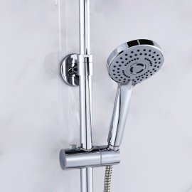 Rain-Fall Shower Head Set with Handheld Shower