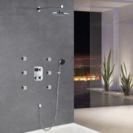 Rainfall Shower Head with Hand Held Shower Head