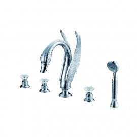 Silver plated waterfall bathroom faucet