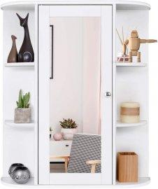 2 Tier Single Door Wall Mount Bathroom Medicine Cabinet With Mirror