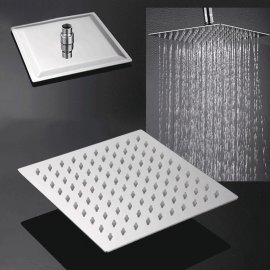 Square Wall Mounted Rainy Waterfall Shower Head