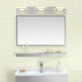 Juno New 3 Square White Wall Mount LED Lighted Mirrors For Makeup