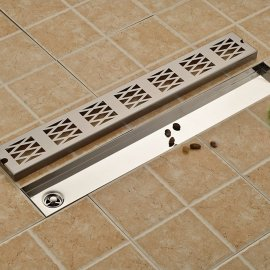 Stylish Zig Zag Floor Stainless Steel Bathroom Shower Drain