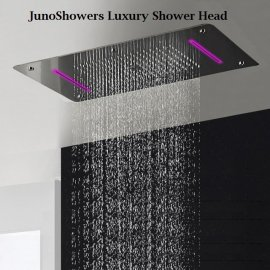 Super Luxury Recessed Ceiling Mount LED Large Shower Set