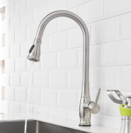 Stainless Steel Touch Control Kitchen Faucets Pull Down