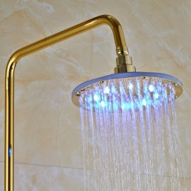 Turin 8 GOLD LED Luxury Rainfall Shower Faucet