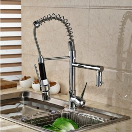Two Spouts Sink Faucet with Single Handle & LED Lights