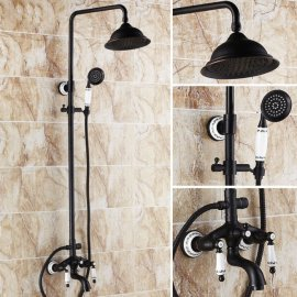Allora Oil Rubbed Bronze Bathroom Shower Set