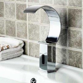 Widespread Automatic Sensor Waterfall Bathroom Faucet