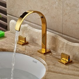 Widespread Deck Mounted Two Handles Three Holes Knobs Faucet 6