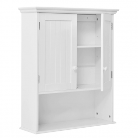 Juno White Wood Medicine Cabinets Wall Mount